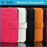 Wallet Smartphone Leather Case For Iphone 4 2015 Fashion Mobile Phone Case