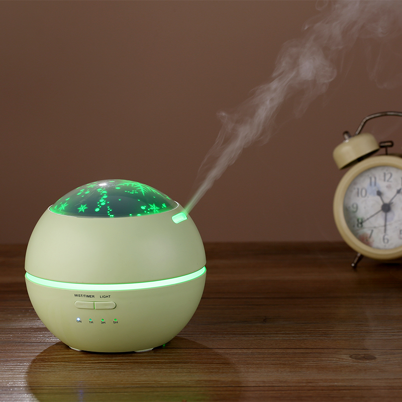 150ML Essential Oil Aroma Diffuser Water Spray Air Cool Mist Humidifier with Romantic Light