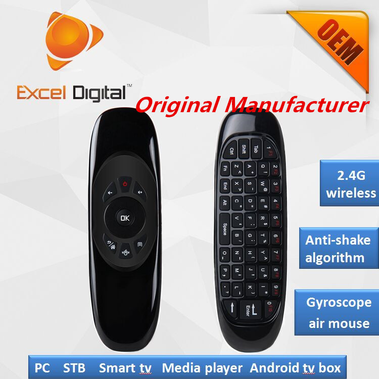 TV remote for smart tv box C120 double sided wireless keyboard air mouse