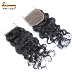 2016 new arrival remy virgin peruvian hair with lace closure