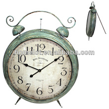 Antique Metal Decorative Floor Standing Clock