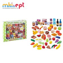 Plastic realastic kitchen toys play food set for kids