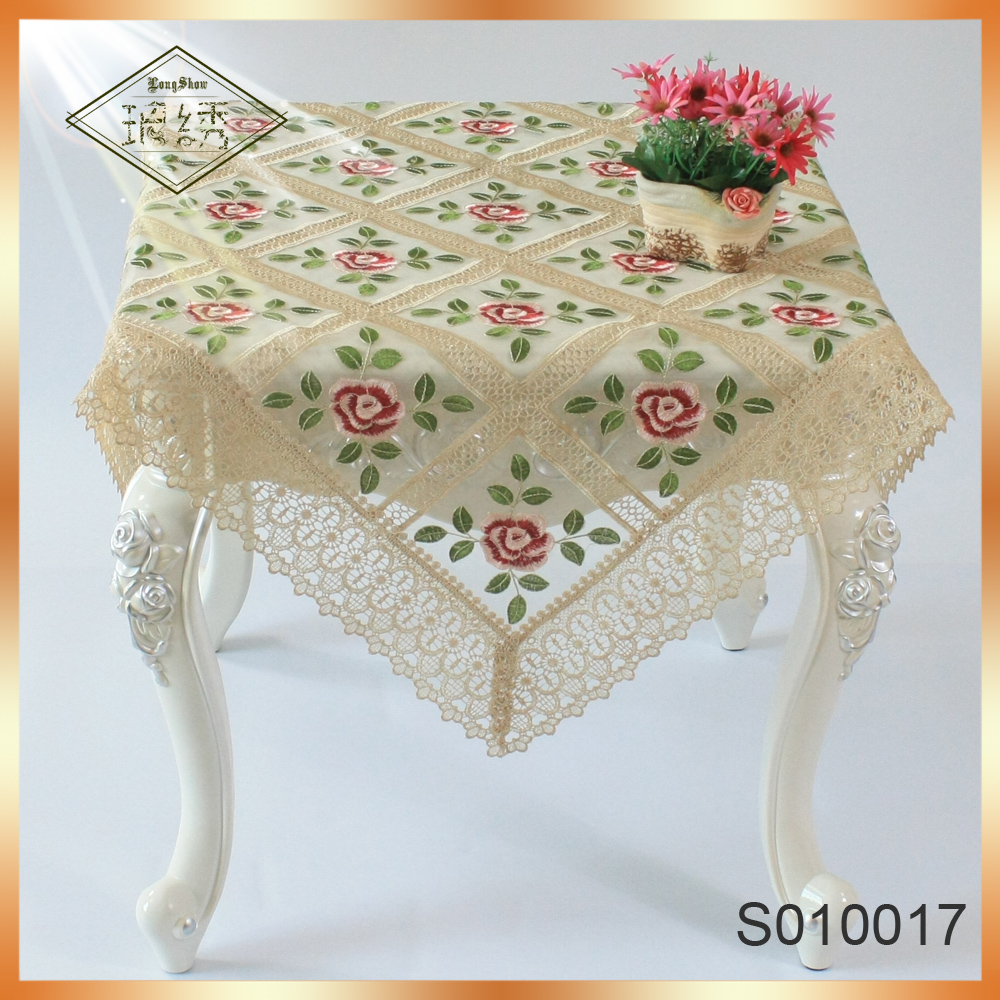 Color embroidered tablecloth rose Home Furnishing decorative cloth