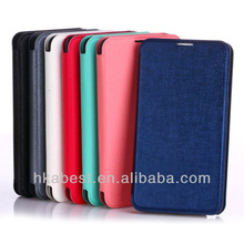battery back cover flip leather smart cover case for Samsung Note 3