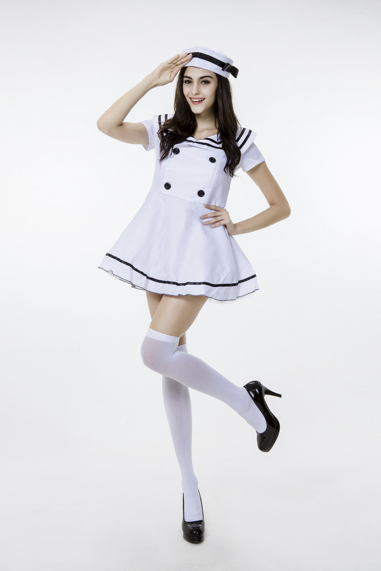 2015 Plus Size Erotic Cosplay Sexy Lingerie Navy Sailor Halloween Costume Sweet Girl Maid Lolita Dress Japanese School Uniform