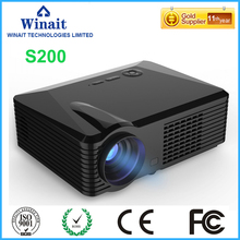 Winait Video Projector S200 Entry-level 2500 Lumens Led Projector 800*600Pixel ,Dynamic Video 1080P/4K Decode