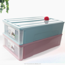 Plastic combination lock box storage box for clothes collapsible functional storage box