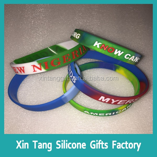 China guangdong factory wrist band / custom silicon wristband