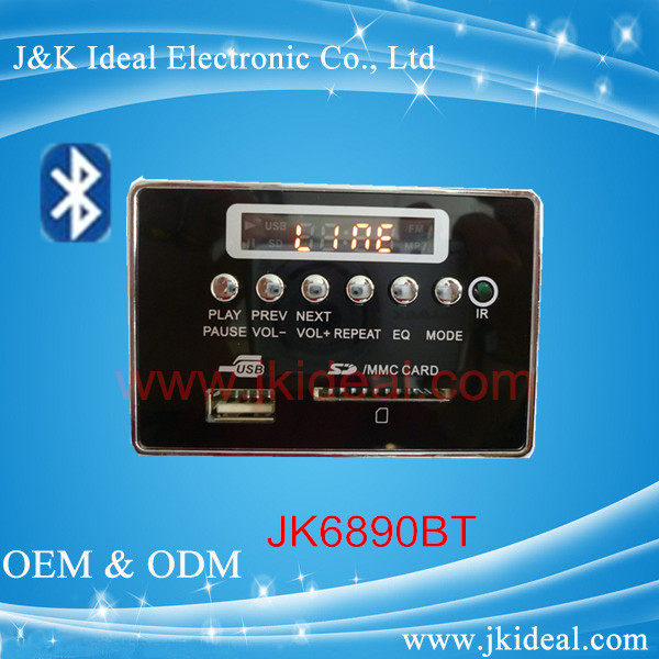 JK6890BT Bluetooth audio video module mp5 usb sd fm mp3 kit
