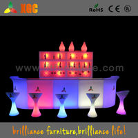 modern style 16 color RGB changing led table led luminous plastic bar counter passed CE,ROHS,UL