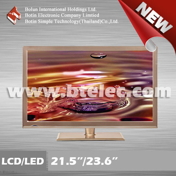 "21.5''/23.6"" Thailand LED TV with golden cabinet"