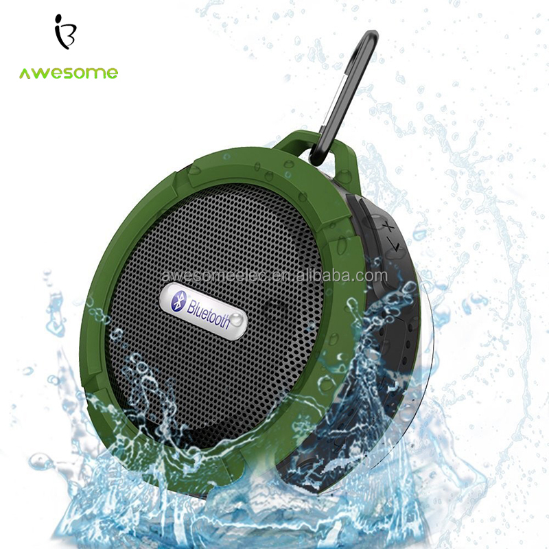 (Hot) 2016 Bluetooth Waterproof Speaker with hook, Portable Bluetooth Speaker, waterproof bluetooth speaker with suction cup