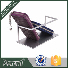 Fashion style excellent design luggage shop hanging wallet display stand for promotion