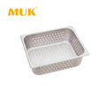 MUK hotel restaurant kitchenware 1/2 stainless steel food container perforated GN pan
