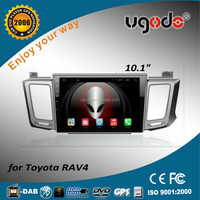 ugode android 2 din car radio for Toyota RAV4 Car radio gps dvd 10.1 inch touch screen display