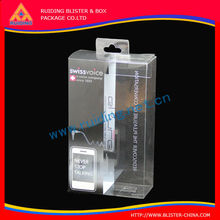 min bluetooth speaker plastic packaging box with clear pvc window