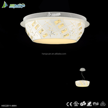 wire cut iron ceiling light design modern fancy ceiling fan light with clear crystal HXC2011-4WH