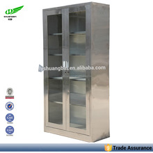 RTA Kitchen pantry Storage Glass stainless steel cabinet