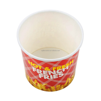 2015 Hot Sale High Quality Potato Chips Container Disposable French Fries Container