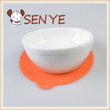 Wholesale Factory Pet Silicone Cushion Antiskid Ceramic Pet Bowl