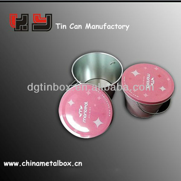 wholesale mini tin buckets decorative with lid