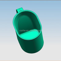 production Custom processing plastic mold shell Capacitor with cylinder plastic shell, plastic shell CBB60-5 38 * 72