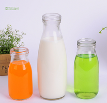 Manufacturer direct selling fresh milk bottle yogurt bottle high transparent food glass bottle quantity of large