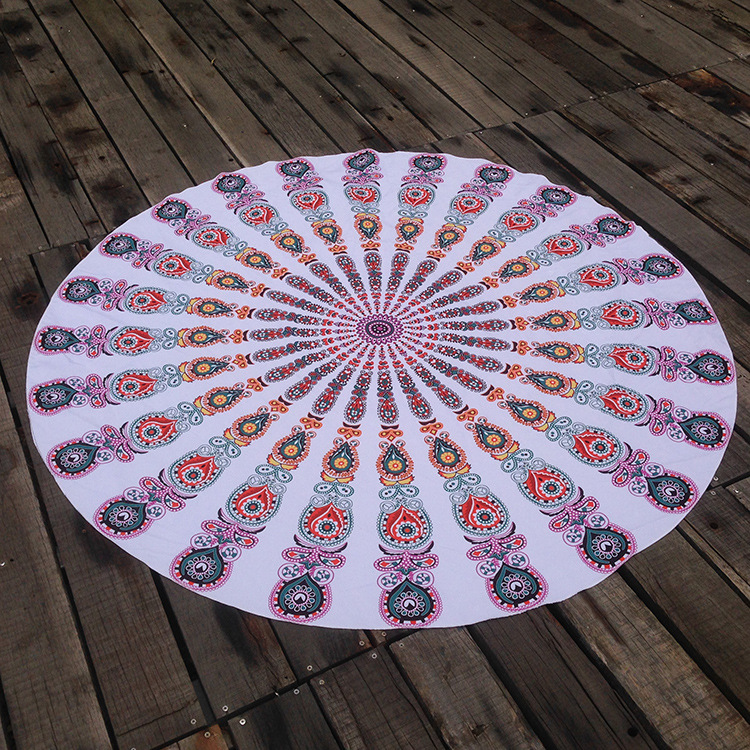 Hot selling microfibre mandala beach round towel