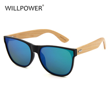 Will Power custom logo hand polished japanese designer wooden sunglasses uv400 authentic bamboo cycling flat mirror sun glasses