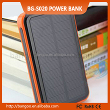 2015 new large capacity 20000 mAh waterproof portable solar power bank usb solar charger for iphone