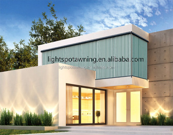 Outdoor vertical awning