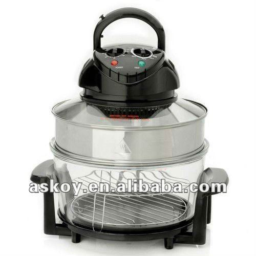 Hot SALE 2012 Zhongshan Halogen Oven Factory 12Liters Glass Bowl Convection cooker electric (AH-D11 ) with A13 APPROVED