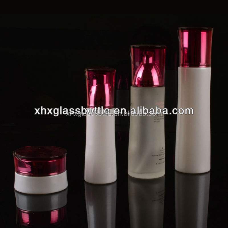 Elegance Body Nature empty cosmetic Lotion Pump Bottle and twist off cap glass jar