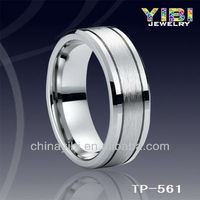 Tungsten Ladies/Mens Classic Styled Brushed & Polished women and animal hot sex Ring