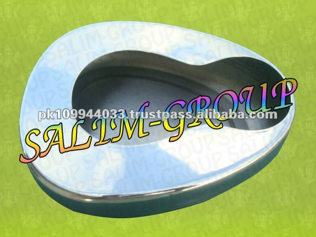 Reusable Adult Bed Pans Stainless Steel Bedpan Medical Grade