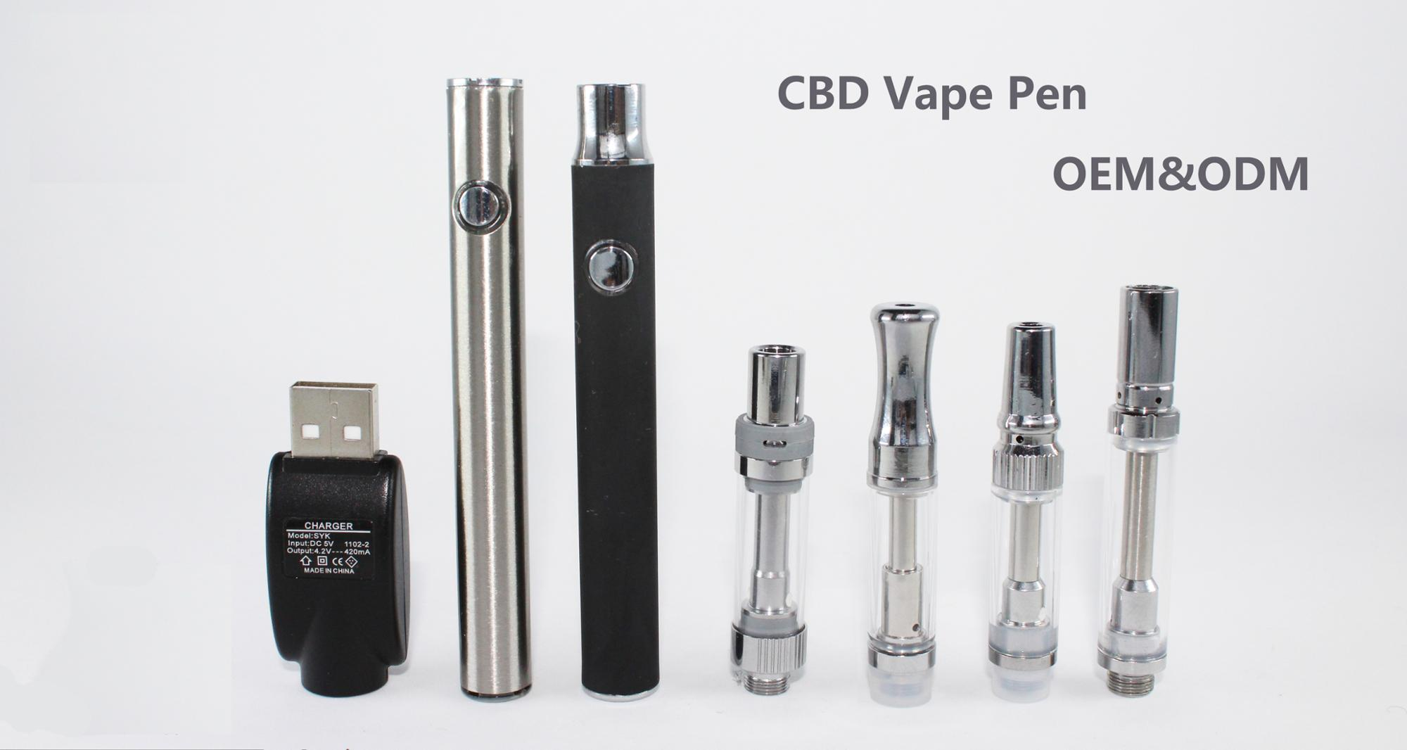 Use CBD oil newest cartridge OEM colors / tip / holes ceramic heater glass cartridge vape pen