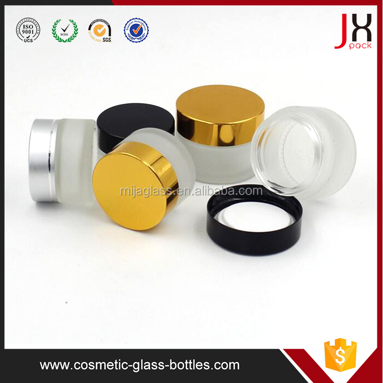 Wholesale Cosmetic Containers 30ml 50ml Luxury Empty Glass Cosmetic Bottle Packaging Container for Cream