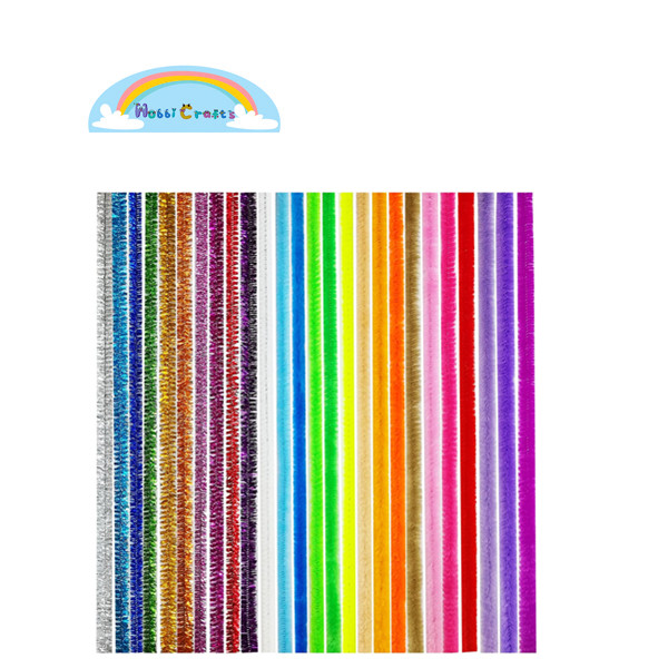 Assorted Color plastic pipe cleaner for DIY Art Craft