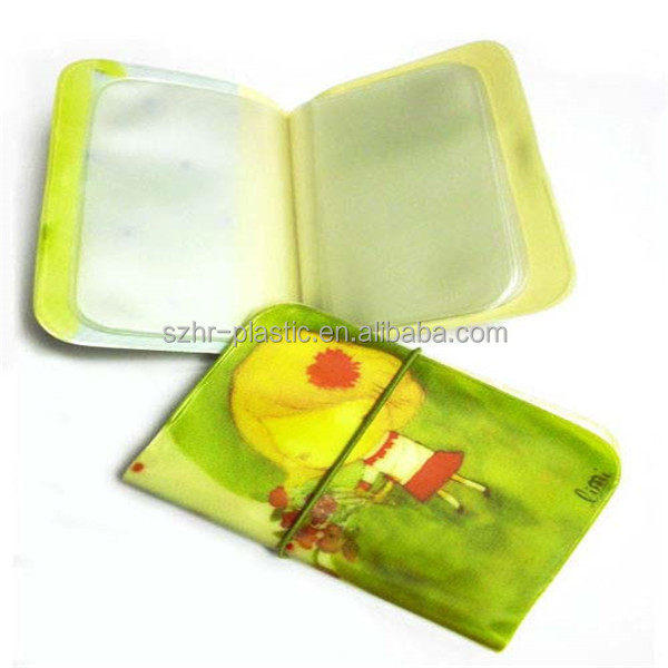 Beauty Plastic ID Card Cover Book wallet