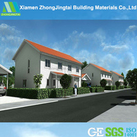 2015 new material light weight eps cement sandwich panel free house plan