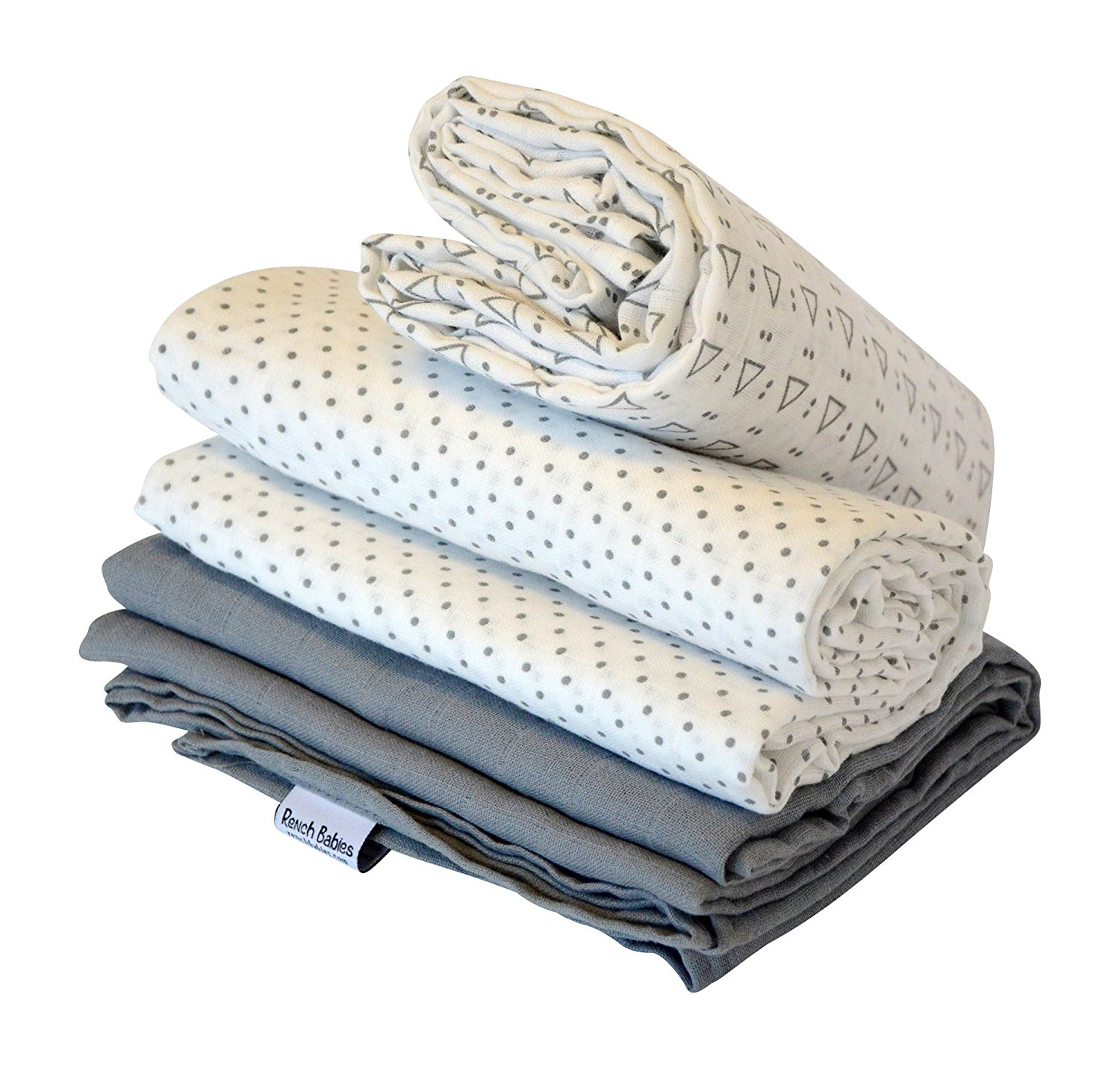 "New promotion bamboo 2 pack baby swaddle blankets47""x 47"" star"
