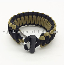 2017 new design king cobra weaved fire starter paracord bracelet survival