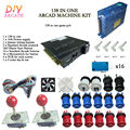 New Arcade DIY Accessories 138 In One + 16A Power supply + 16x Button + 2 Joystick For Arcade MAME JAMMA Games DIY 2Player