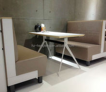 Hot sale elegant modern commercial cheap soft restaurant bench seat