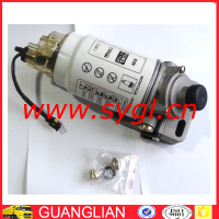 howo diesel fuel filter water separator VG1540080311 PL420 with glasses cup heater and pump