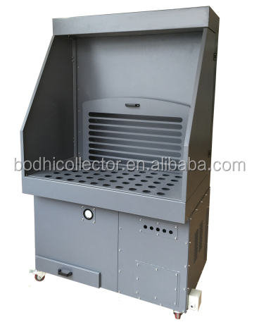 TRION TEPCO ROLLAWAY DUST FUME COLLECTOR,WATER VEIL DOWNDRAFT TABLE, MEDIA AIR CLEANER Nail Drill Dust Collector