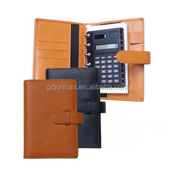 6 holes ring binder notebook planner with calculator