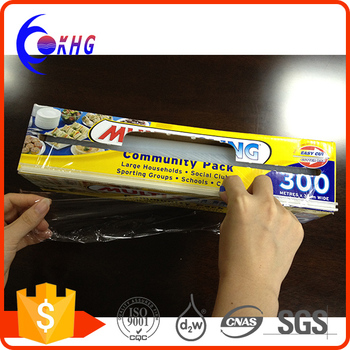 High intensity food grade PE stretch cling film for food wrapping