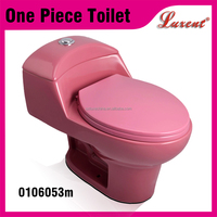 Best Selling Siphonic Toilet Pink Color one Piece Toilet Seat
