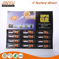 highly adhesive Instant liquid 502 super glue adhesive 3g for rubber